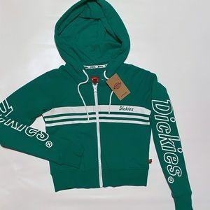 NWT xsmall cropped Dickies zip up hoodie
